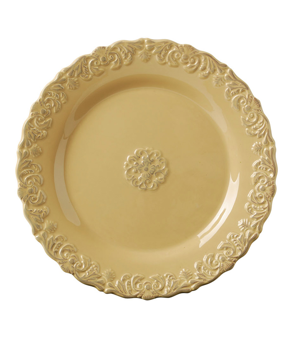 DINNER PLATE, ANITQUE YELLOW-thumb