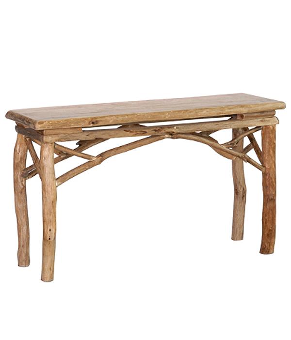 pine-log-table